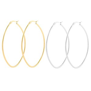 Stainless Steel Simple Heart Dangle Earrings For Women Punk Big Love Hoop Earring Aretes Brinco Feminino Gifts
