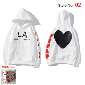 2021 Men Hoodie High Quality Loose Women' Sweatshirt with Label Fashion Hip Hop Letters Long Sleeve Top Jacket with Box