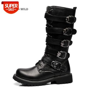 Winter Men Motorcycle Boots 2018 Fashion Mid-Calf Punk Rock Punk Shoes Mens PU Leather Black High top Casual Boot Man #I15S