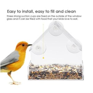 New Acrylic Clear House Window Bird Feeder Birdhouse Bird jllmso homecart