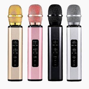 K6 Karaoke Microphone Mini Handheld Microphones Wireless Bluetooth with Speaker for Sing Recording Interviews 4 Colors