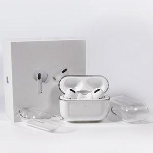 Для Airpods Pro Защитная чехол Apple AirPod 3 Bluetooth-гарнитура Установите прозрачный ПК жесткая оболочка четкий защитник