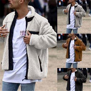 Coats Man Woolen Blends Coat Fashion Occident Trend Long Sleeve Cardigan Zipper Keep Warm Outerwear Male Spring Casual Lapel
