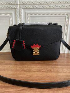 M45385 M45384 ماكرة pochette metis قماش كتابات طباعة سيدة مضفر أعلى حقائب مقبض للإزالة قابل للتعديل حزام حقيبة الكتف حقيبة crossbody