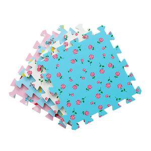 Baby Play Mat 9pcs Themed Printing Kids EVA Foam Mat Jigsaw Puzzle Interlocking Exercise Tiles Floor Mat Child DIY Toy 30x30x1cm H0831