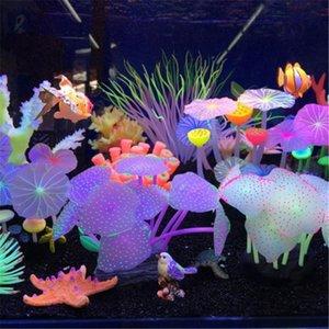 Décorations Silicone Simulation d'aquarium Simulation artificielle Tank Tank faux corail Plante sous-marine Décoration d'ornement de mer aquatique