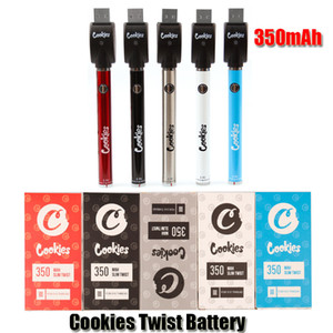 Biscotti Twist Battery SF Slim 350Mah Bottom 3.3-4.8 V Preheat VV Paper Pen Battery Charger Kit caricabatterie USB per cartuccia olio 510