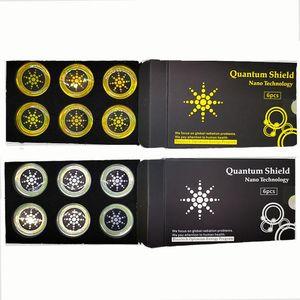 Quantum Shield 스티커 휴대 전화 가제트 핸드폰 방지 방지 방지 방지 방사선 6pcs / 세트