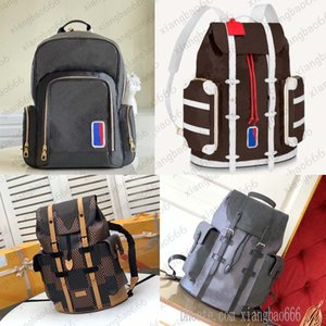 18 colors TOP quality mens backpack Christopher school bag Basketball Geninue Leather travel sport outdoor backpacks designers large bags