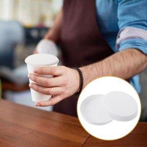Disposable Cups & Straws 100 Pcs Tea Cup Covers Anti Dust Caps El Lids