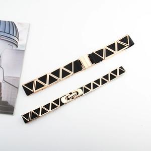 New Triangle Buckle Waistband Dress Long Shirt Decorative Belt
