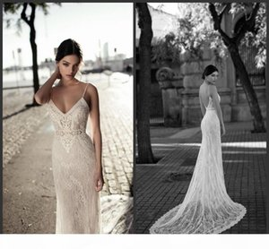 2018 New Sexy Mermaid Wedding Dresses Backless Spaghetti Neck Lace Appliqued Custom Made Vintage Bridal Gowns 2019 Gali Karten