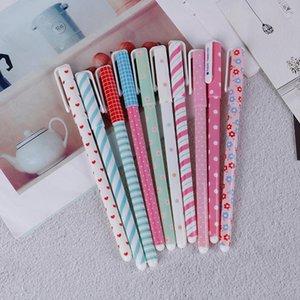 Kawaii gel lápis 6/10 pcs colorido penas de tinta conjunto bonito mini escrita para menino menina escritório de papelaria de papelaria