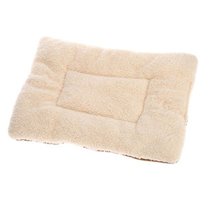 NEW Washable Puppy Cushion Soft Fleece Dog Cat Bed Warm Kennel Pad Mat Cushion Reversible Fleece Pet Kennel Crate Mat Blanket