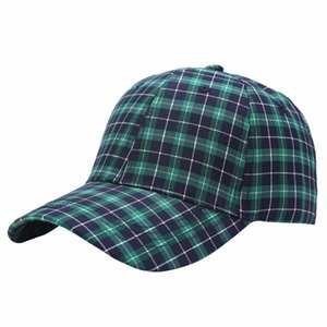 Winter Fashion Plaid Baseball Caps Men Women Plaid Baseball Hats Party Hats Streetwear Snapback Hip Hop Trucker Hat GWA3792