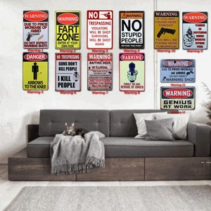12 Styles Warning Tin Painting Toilet Kitchen Decor Poster Bar Pub Cafe Warning Retro Metal Sign Home Restaurant Vintage Tin Sign DHF5453