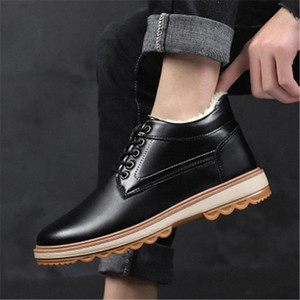 Winter Warm Fur Male Flats Ankle Boots Shoes For Men Adult Casual Sneakers Comfortable Walking Popular Footwear 39 44 Womens Ankle Boo I7Ue#