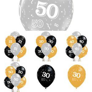 GIHOO 10 unids Cheersbeers 21 30 40 50 años Aniversario de boda 10inch Latex Globos Adultos de cumpleaños Decoraciones de fiesta Suministros L0220