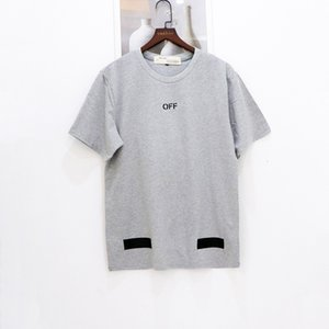 New Hombres Moda Marca Flecha Impresión de manga corta Camiseta para hombre Cuello redondo Tee Hombres y mujeres