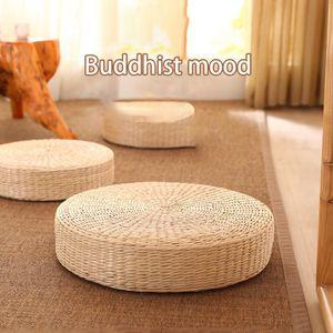 Подушка / декоративная подушка 40x10см соломенная подушка японского стиля вязаные подушки подушки подушки пола ручной работы тканые татами украшения сиденья
