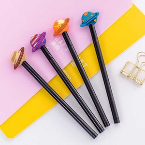 24 PCs Korea Stationery Learning Office Black Ink Pen Cute Creative Colorful Planet Gel Pen Cute Stationary Wholesale 210705