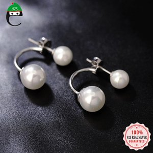 ElfoplataSi Real 925 Sterling Sterling Synthesis Boucle d'oreille pour femme mariage femme bijoux fins d'anniversaire de Gilr DD050
