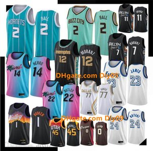 Şehir 2 Lamelo Topu Basketbol Formaları Lebron 23 James Ja Morant Doncic Antetokounmpo Devin Booker Herro Kyrie Irving Butler Lillard