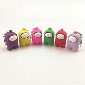 미국 키 체인 중 게임 Keychain 5cm PVC 인형 장난감 키 체인 귀여운 만화 인형 키 링 가방 자동차 키 링 장식 애니메이션 게임 키 체인 13 색