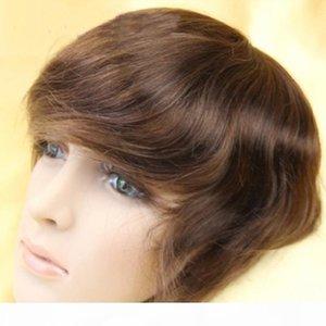 6x8inch #1#1b#2#3#4 Super Durable Thin Skin toupee, Mono Base Men hair Wig, Hair Prosthesis with Indian human hair