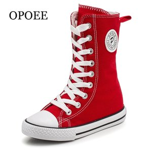 Opoee Children Canvas Boys Girls High-Top Toard Board Spring y Zapatos de otoño 210308
