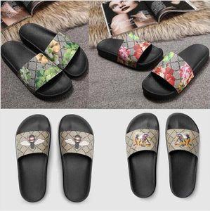 2021 Luxury Designer Tiger New Fashion Men Women Sandals Ladies Flip Flops Loafers Black White Red Green Slides Shoes