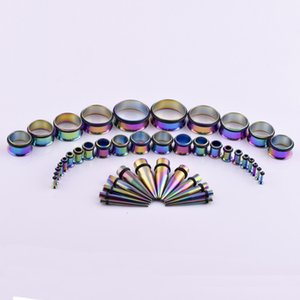 Hot selling stainless steel tapered color auricle expanderL5Q6