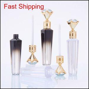 Fashion Diamond Lip Gloss Tubes Clear Empty Lip Gloss Tube Lip Gloss Travel Bottle Packaging Containers Refillable Lipgloss Bottles Ay Uiqyj