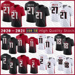 21 Todd Gurley II 2020 AtlantaNouveau Jersey de football 11 Julio Jones 2 Matt Ryan 18 maillots de haute qualité Ridley