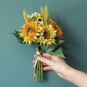 Artificial Sunflower Simulation Flower Bouquet Wedding Holding Flowers Home Garden Party Decorations Garden Decor