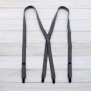 Bretelle 4 clip clip elastico cinturino unisex moda regolabile jeans vestito banda y on back clip clip duty pant bretelli clip y-back regolabili