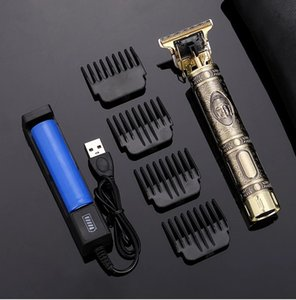 AG Hair Trimmer For Man USB Rechargeable T-Outliner LCD Hair Clipper Barber Shop Men's Shaver Trimmer Beard Hair Cutting Machine 210302