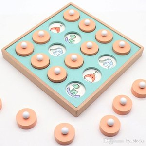 Kids Wooden Memory Match Chess Game Children Early Educational 3D Puzzles Family Party Casual Game Education Toys
