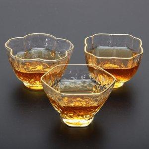 Nouveau verre résistant à la chaleur Style japonais Kungfu Tea Tasse Artistique Verre Vin Verre Verre Kung-Fu Teaware Master Tasse Teaware L0308