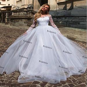 Pure White Lace Mermaid Wedding Dresses With Detachable Train Elegant Summer Beaded Long Sleeve Bohemian Beach Wedding Dress 2021 Bridal