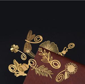Creativo Hollow Bookmark Wedding Mini Metallo Gold Segnalibri Bookmarks Matrimonio Forniture per matrimoni Segni di girasole Segni di nozze Guarnizione Guest Supporto dei regali