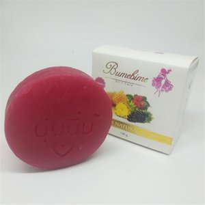 Top Bumebime Handwork Whitening Soap with Fruit Essential Natural Mask White Bright Oil Soap fast shiping