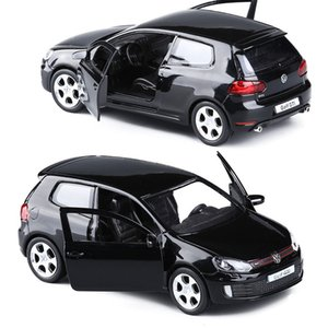 1/36 Aleación Golf 6 Metal Casting Cars Toy Die Mire Funct Pull Back Model Toys Coche para niños