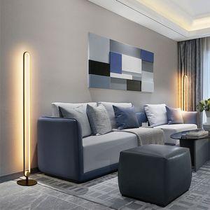 Lámpara de piso LED moderna Lámparas de piso de control remoto Toque de interior Dimensión de la sala de estar Dormitorio de pie Lámpara de pie Decoración para el hogar Luz
