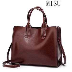 Leather Handbags for Women Bag 2021 High Quality Casual Female Bags Trunk Tote Spanish Brand Shoulder Bag Ladies Bolsos