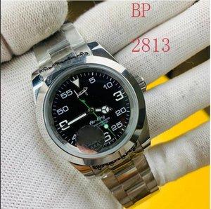 BP Factory 2813 Top Luxo Homens Assista Exp Air King Series 116900 Black 40mm Dial Movimento Mecânico Automático