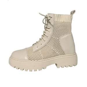 Designer autumn Martin women's British and style summer thin spring boots 2021 short inside increased single boot mesh breathable
