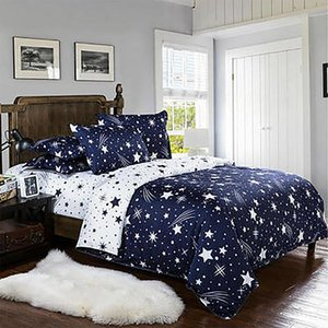 star kids bedding set Luxury blue duvet cover set Bed Sheet Pillowcase bed Sets Twin Full King double single queen comforter