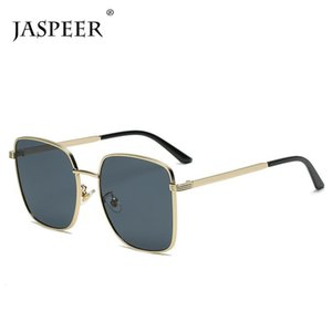 Óculos de Sol Jaspeer Quadrado Homens Marca Designer Vintage UV400 Condução Sol Vidro Mulheres Tons Moda Eyewear