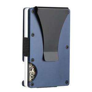 SEMORID Rfid Holder Men Wallets Anti-thief Slim Thin Aluminum Metal Business ID Bank Cardholder Case Money Purses